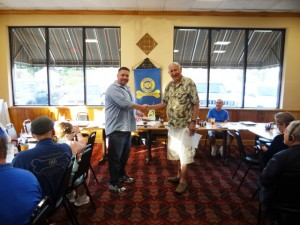 "John Cook ""Judge"" is  welcomed to RURITAN by President Lloyd ""Junkman"" Ware.Please see attachment."